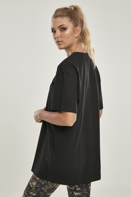 Футболка URBAN CLASSICS Ladies Oversized Boyfriend Tee (женская) Black фото 2