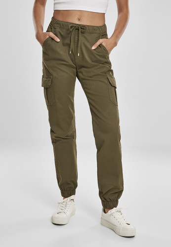 Брюки URBAN CLASSICS Ladies High Waist Cargo Jogging Pants (женские) Summerolive фото 6