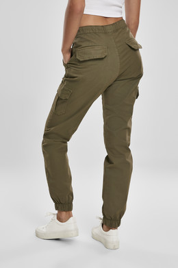 Брюки URBAN CLASSICS Ladies High Waist Cargo Jogging Pants (женские) Summerolive фото 2