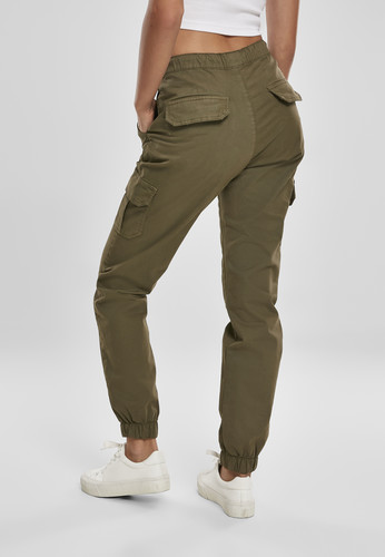 Брюки URBAN CLASSICS Ladies High Waist Cargo Jogging Pants (женские) Summerolive фото 7