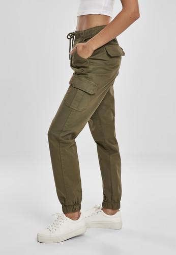 Брюки URBAN CLASSICS Ladies High Waist Cargo Jogging Pants (женские) Summerolive фото 9