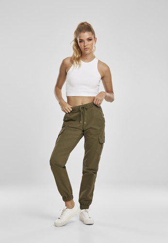 Брюки URBAN CLASSICS Ladies High Waist Cargo Jogging Pants (женские) Summerolive фото 10