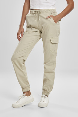 Брюки URBAN CLASSICS Ladies High Waist Cargo Jogging Pants (женские) Concrete фото
