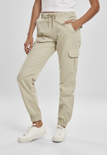Брюки URBAN CLASSICS Ladies High Waist Cargo Jogging Pants (женские) Concrete фото 5