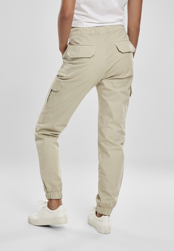 Брюки URBAN CLASSICS Ladies High Waist Cargo Jogging Pants (женские) Concrete фото 6