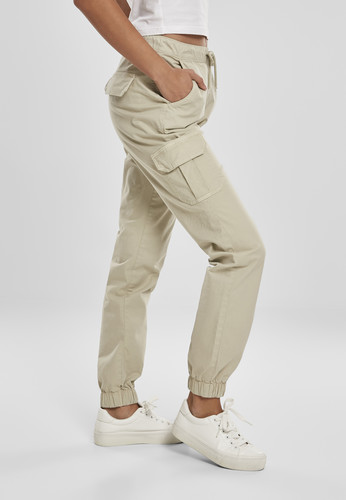 Брюки URBAN CLASSICS Ladies High Waist Cargo Jogging Pants (женские) Concrete фото 7