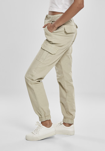 Брюки URBAN CLASSICS Ladies High Waist Cargo Jogging Pants (женские) Concrete фото 8