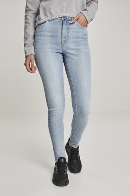 Джинсы URBAN CLASSICS Ladies High Waist Skinny Jeans (женские) Authentic Blue Washed фото