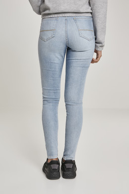 Джинсы URBAN CLASSICS Ladies High Waist Skinny Jeans (женские) Authentic Blue Washed фото 2