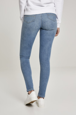 Джинсы URBAN CLASSICS Ladies High Waist Skinny Jeans (женские) Mid Stone Washed фото 2