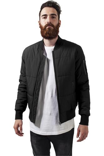 Куртка URBAN CLASSICS Basic Quilt Bomber Jacket (Black, 2XL)