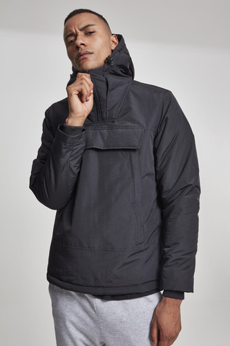 Куртка URBAN CLASSICS High Neck Pull Over Jacket (Black, 2XL)