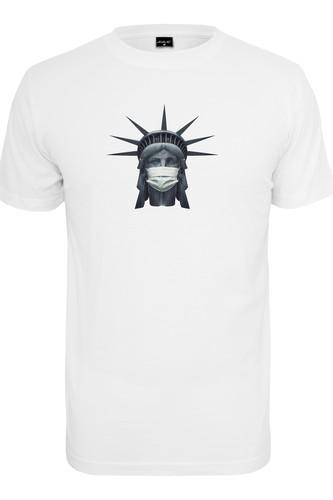 Футболка MISTER TEE Liberty Mask Tee (White, XL)