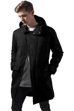 Куртка URBAN CLASSICS Cotton Peached Canvas Parka Black фото