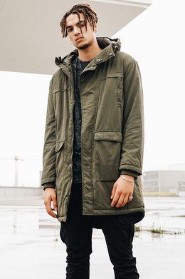 Куртка URBAN CLASSICS Cotton Peached Canvas Parka Olive фото