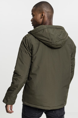 Куртка URBAN CLASSICS Padded Pull Over Jacket Olive фото 2