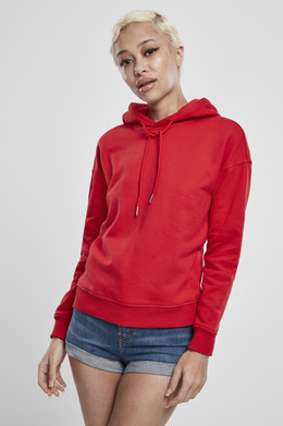 Толстовка URBAN CLASSICS Ladies Hoody Fire Red фото