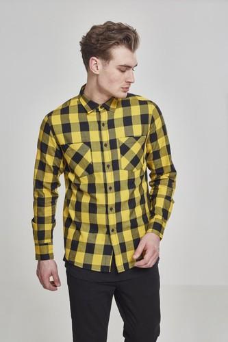Рубашка URBAN CLASSICS Checked Flanell Shirt (Black/Honey, S)