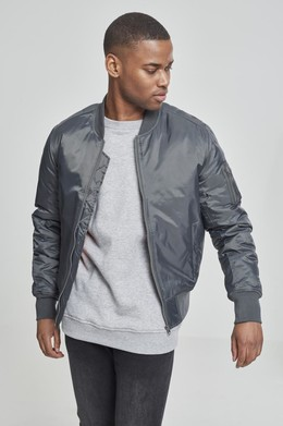 Куртка URBAN CLASSICS Basic Bomber Jacket Cool Grey фото
