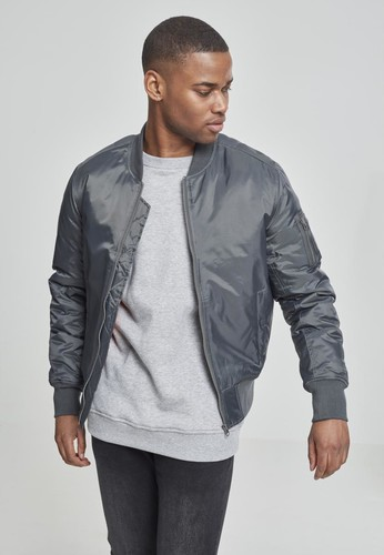 Куртка URBAN CLASSICS Basic Bomber Jacket Cool Grey фото 3