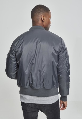 Куртка URBAN CLASSICS Basic Bomber Jacket Cool Grey фото 4