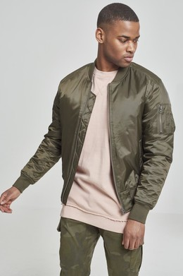 Куртка URBAN CLASSICS Basic Bomber Jacket Dark Olive фото