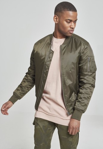 Куртка URBAN CLASSICS Basic Bomber Jacket Dark Olive фото 6