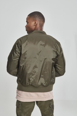 Куртка URBAN CLASSICS Basic Bomber Jacket Dark Olive фото 2