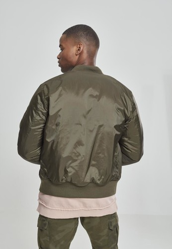 Куртка URBAN CLASSICS Basic Bomber Jacket Dark Olive фото 7
