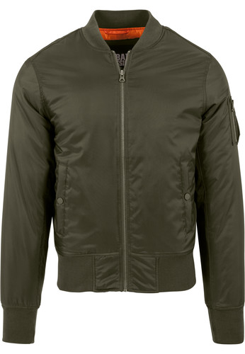 Куртка URBAN CLASSICS Basic Bomber Jacket Dark Olive фото 10