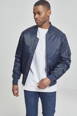 Куртка URBAN CLASSICS Basic Bomber Jacket Navy фото