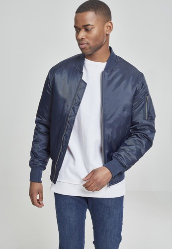Куртка URBAN CLASSICS Basic Bomber Jacket Navy фото 6