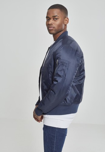Куртка URBAN CLASSICS Basic Bomber Jacket Navy фото 8