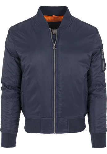 Куртка URBAN CLASSICS Basic Bomber Jacket Navy фото 10