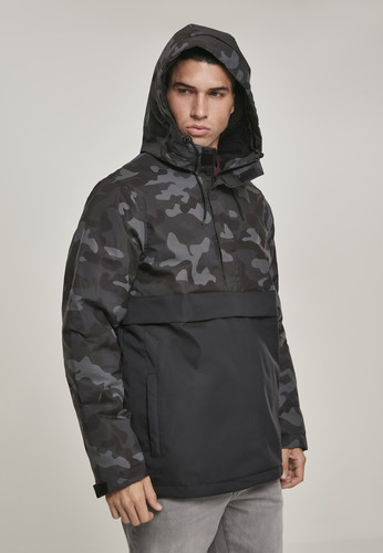 Куртка URBAN CLASSICS Camo Mix Pull Over Jacket Black/Dark Camo фото 10
