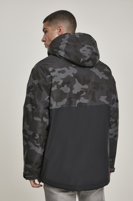 Куртка URBAN CLASSICS Camo Mix Pull Over Jacket Black/Dark Camo фото 2