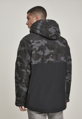 Куртка URBAN CLASSICS Camo Mix Pull Over Jacket Black/Dark Camo фото 11