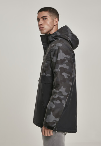 Куртка URBAN CLASSICS Camo Mix Pull Over Jacket Black/Dark Camo фото 12