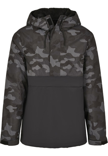 Куртка URBAN CLASSICS Camo Mix Pull Over Jacket Black/Dark Camo фото 13