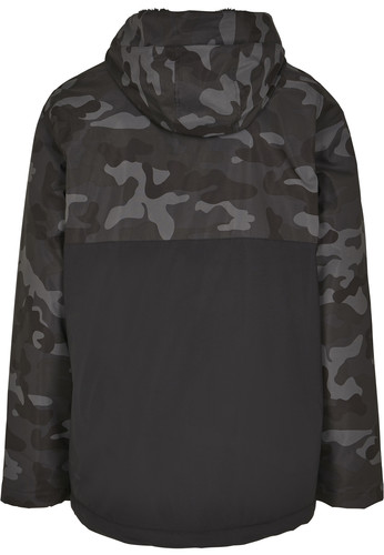 Куртка URBAN CLASSICS Camo Mix Pull Over Jacket Black/Dark Camo фото 14