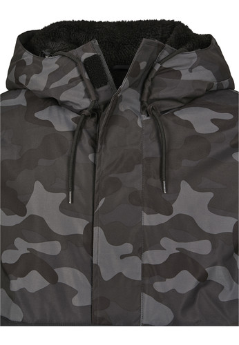 Куртка URBAN CLASSICS Camo Mix Pull Over Jacket Black/Dark Camo фото 15