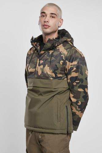 Куртка URBAN CLASSICS Camo Mix Pull Over Jacket (Olive/Wood Camo, XL)
