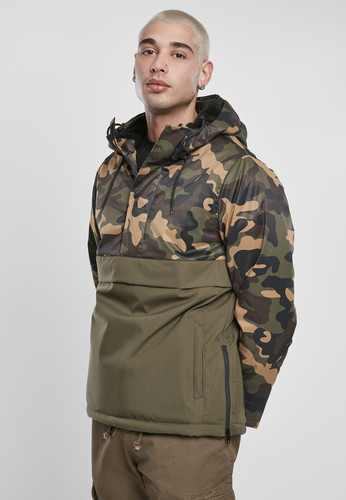 Куртка URBAN CLASSICS Camo Mix Pull Over Jacket Olive/Wood Camo фото 5
