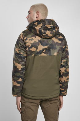 Куртка URBAN CLASSICS Camo Mix Pull Over Jacket Olive/Wood Camo фото 2