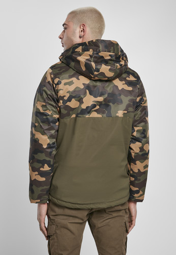 Куртка URBAN CLASSICS Camo Mix Pull Over Jacket Olive/Wood Camo фото 6