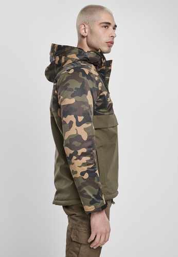 Куртка URBAN CLASSICS Camo Mix Pull Over Jacket Olive/Wood Camo фото 8