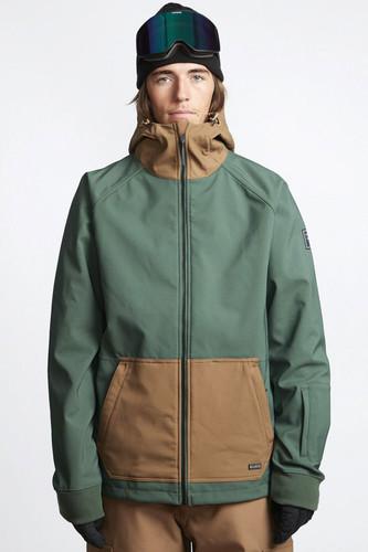 Куртка сноубордическая BILLABONG Downhill Softshell Forest (Forest, M) сноубордическая куртка с капюшоном quiksilver