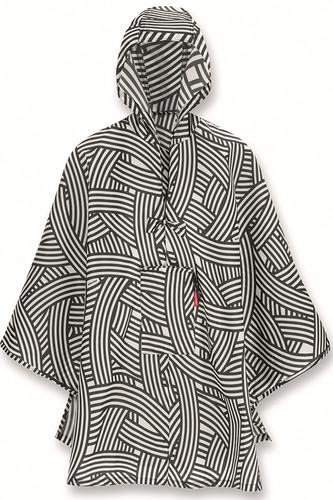 Дождевик mini maxi zebra (чёрный/белый)