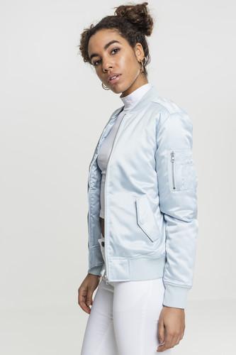 Куртка URBAN CLASSICS Ladies Satin Bomber Jacket женская (Babyblue, M)