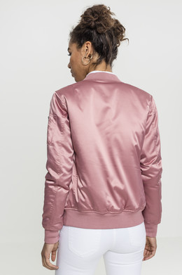 Куртка URBAN CLASSICS Ladies Satin Bomber Jacket женская Oldrose фото 2